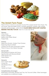 Plain and Fancy Amish Feast