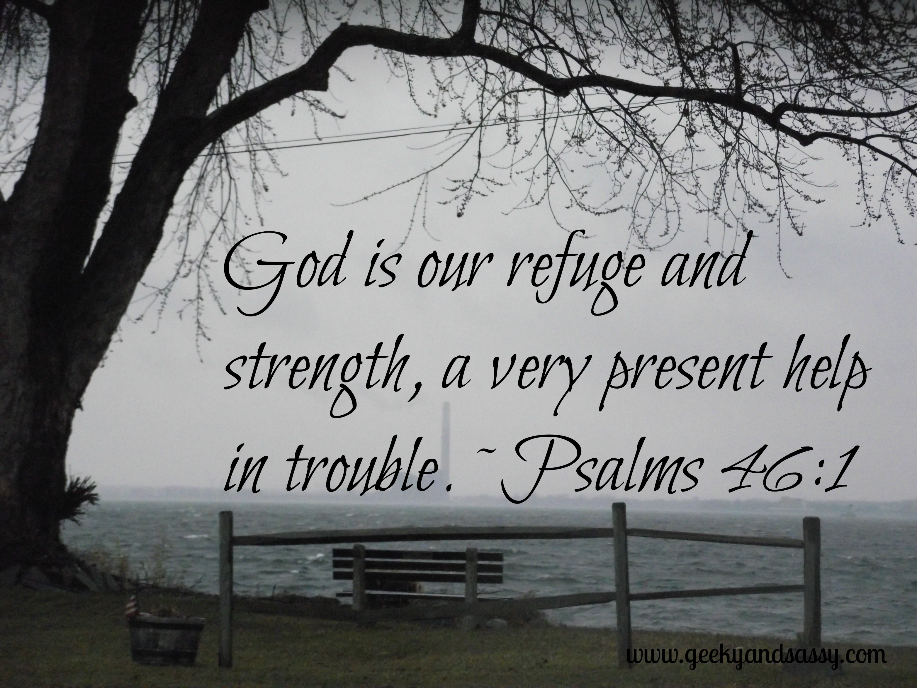 Bible Quotes For Strength Today's Bible Verse  Psalm 461  News And Views