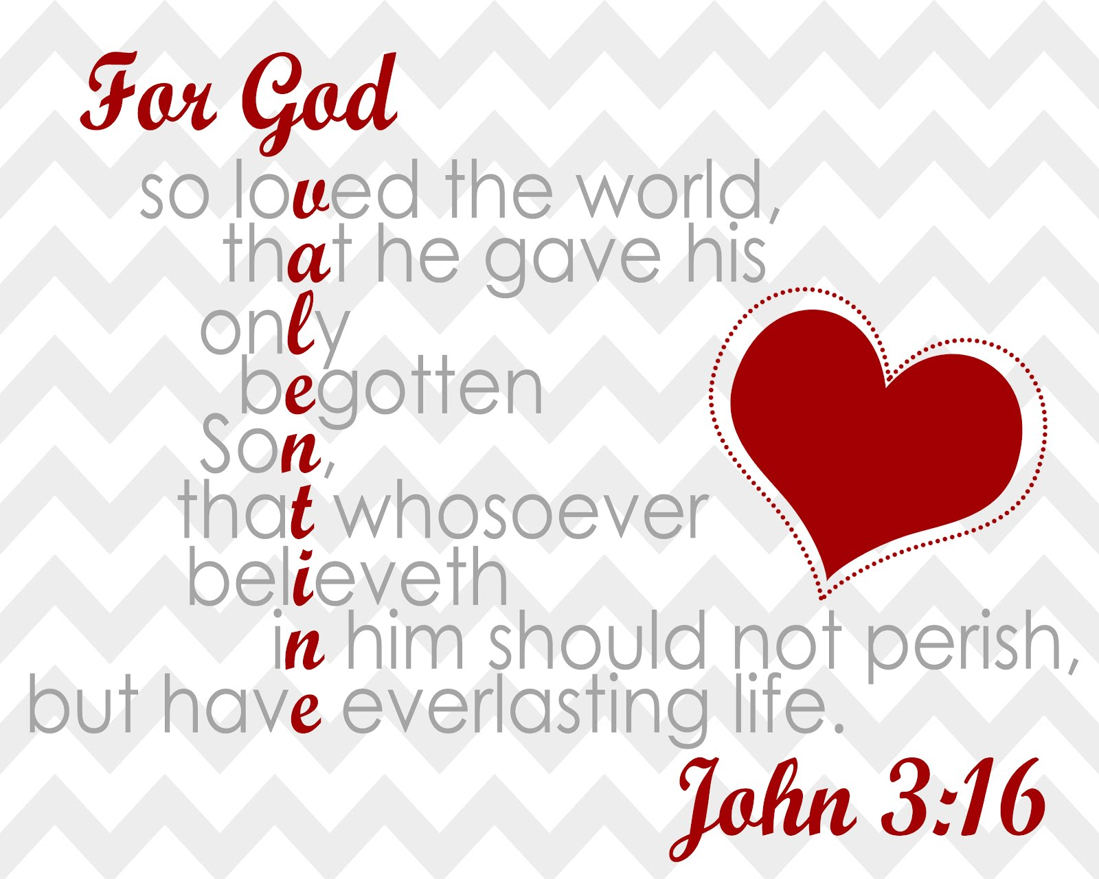 John3 16 Valentine