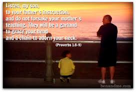 Today's Bible Verse ~ Proverbs 1:8-9 | News and Views